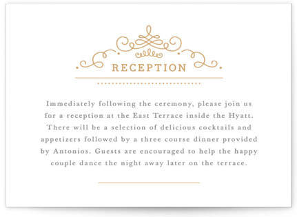 Ornate Monogram Letterpress Reception Cards