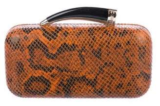 Vince Leather Printed Clutch