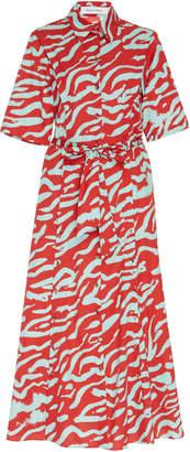 Prabal Gurung Short Sleeve Cotton Midi Shirt Dress