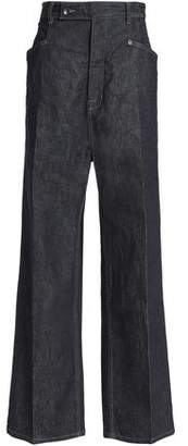Rick Owens High-Rise Wide-Leg Jeans