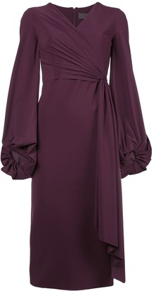 Greta Constantine draped midi dress