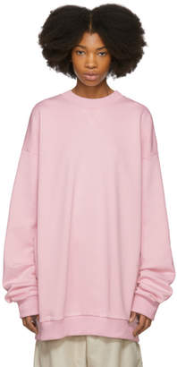Marques Almeida Pink Oversized Sweatshirt Dress