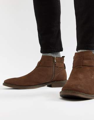Next Boot With Buckle Detail In Brown