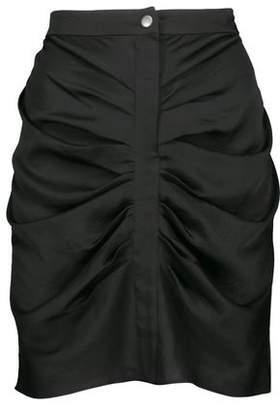 Etoile Isabel Marant Woman Hotta Ruched Satin-crepe Mini Skirt Black Size 34