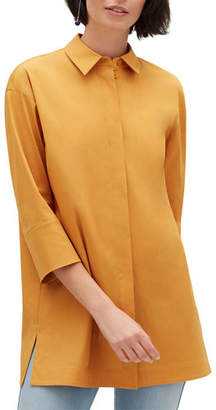 Lafayette 148 New York Plus Size Wade Button-Front Blouse