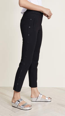 Tibi Anson Stretch Cropped Snap Skinny Pants
