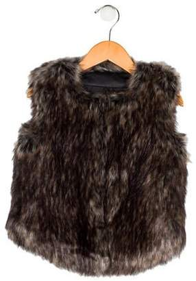 Vince Girls' Faux Fur Vest
