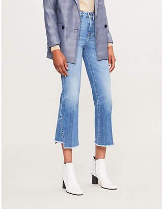 7 For All Mankind Asymmetric-hem high-rise jeans