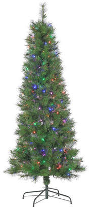 Sterling 6.5Ft. Multi-Style Pre-Lit Mixed Needle Fiber Optic Tree with 200 Multi-Colored Led Lights