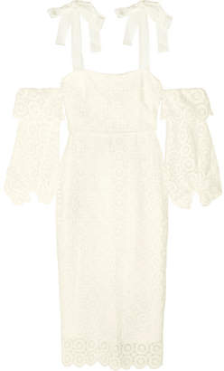 Rebecca Vallance Pulitzer Cutout Guipure Lace Dress - Cream