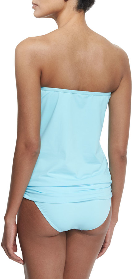 Tommy Bahama Solid Blouson Bandini Swim Top 4