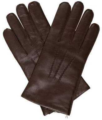 Carolina Amato Fine Knit-Lined Leather Gloves w/ Tags