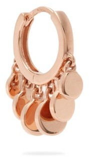 Jacquie Aiche Mini Disco Shaker Single Hoop Earring - Womens - Rose Gold