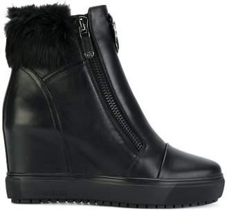 Baldinini wedge fur boots