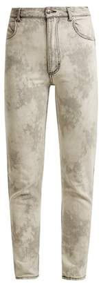 Eckhaus Latta Bleached high-rise straight-leg jeans