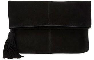 Leith Suede Clutch - Black $75 thestylecure.com