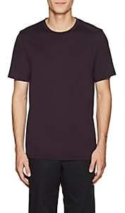 Theory Men's Claey Silk-Cotton Jersey T-Shirt - Purple