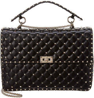 Valentino Rockstud Spike Leather Chain Bag