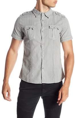 Rogue Dotted Stripe Short Sleeve Modern Fit Shirt