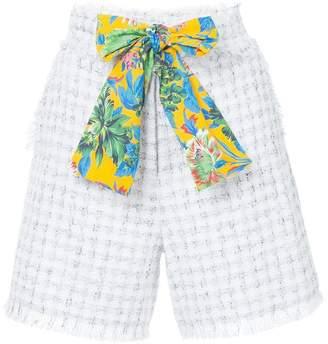 MSGM frayed tweed shorts