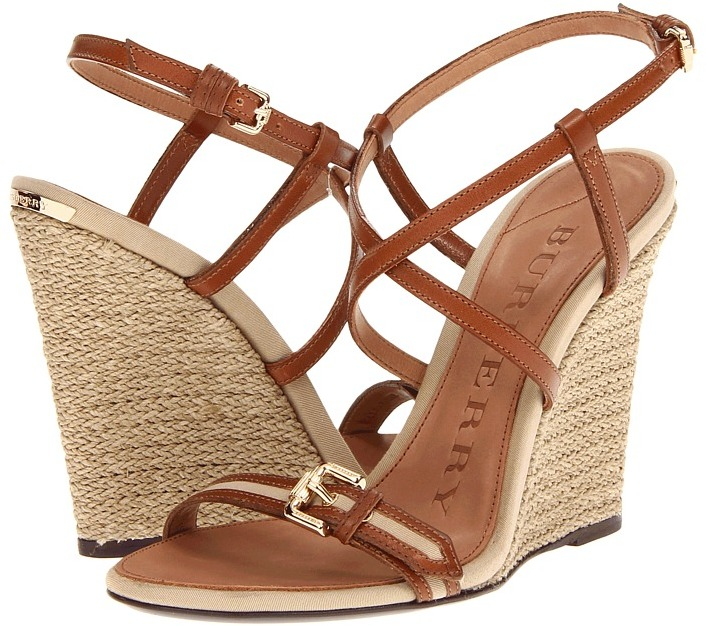 Burberry Cotton Gabardine Epadrille Wedge Women' Wedge Shoe