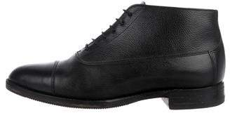 Church's Leather Semi Pointed Toe Oxfords