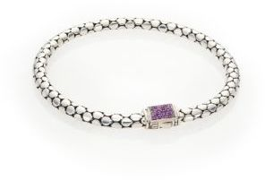 John Hardy Sterling Silver Dot Bangle $495 thestylecure.com