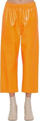 MM6 MAISON MARGIELA CRACKLED SHINY LEATHER PANTS