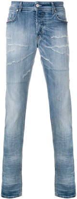Diesel distressed slim fit jeans