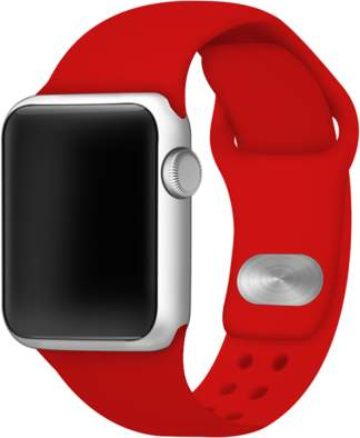 Affinity Bands Red Silicone Sport Band for 38mm and 40mm Apple Watch