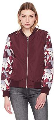 The Portland Plaid Co.women's lightweight print bomber jacket