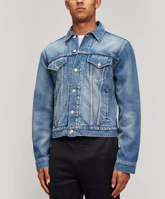 Balenciaga Swoop Logo Denim Jacket