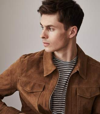 Reiss ORDER BY MIDNIGHT DEC 15TH FOR CHRISTMAS DELIVERY WILLOUGHBY SUEDE JACKET Tabacco