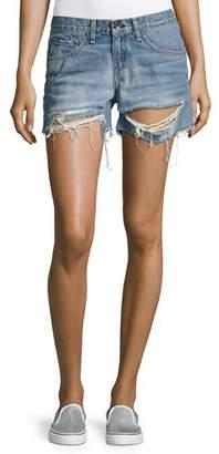 rag & bone/JEAN Distressed Boyfriend Shorts, Rye $195 thestylecure.com