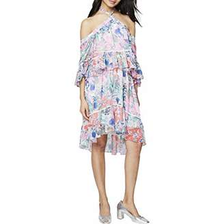 Rachel Roy Women's Printed Crinkle Chiffon Cold Shoulder