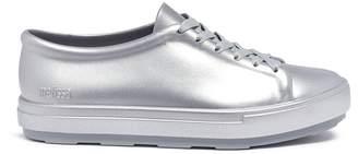 Melissa 'Be Shine' metallic PVC lace-up sneakers