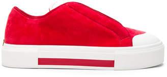 Alexander McQueen Velvet Platform Lace Up Sneakers