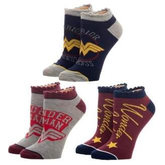 Bioworld Women's DC Comics Wonder Woman 3-Pack Ankle Socks