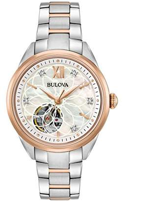 Bulova Womens Analogue Automatic Watch with Stainless Steel Strap 98P170
