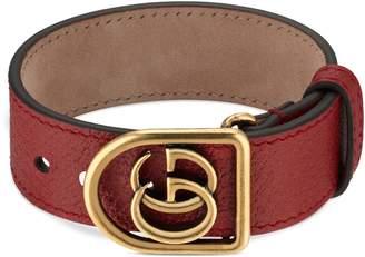 Gucci Double-G Leather Belt Bracelet
