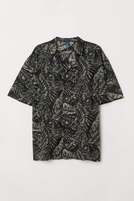 H&M Patterned Resort Shirt - Black
