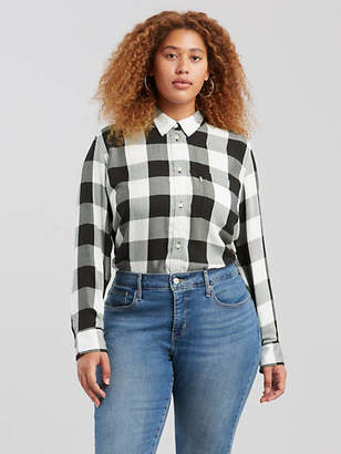 5fa9a4be5a3 Free Shipping  100+ at Levi s · Levi s Ryan Button Back Shirt (Plus Size)