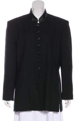 Christian Dior Long Sleeve Button-Up Blazer