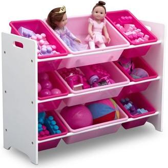 Delta Children Classic 9 Bin Plastic Toy Organizer, Bianca White