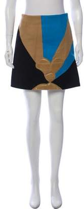 J.W.Anderson Colorblock Wool Mini Skirt