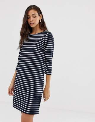 Vila Stripe 3/4 Sleeve Dress
