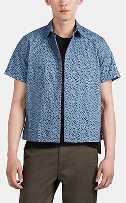 John Varvatos Men's Flint Dot-Print Cotton Shirt - Blue