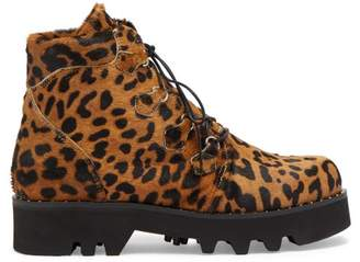 Tabitha Simmons Neir Leopard Print Ankle Boots - Womens - Leopard