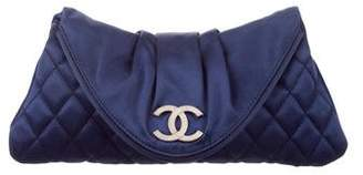 Chanel Satin Half Moon Clutch