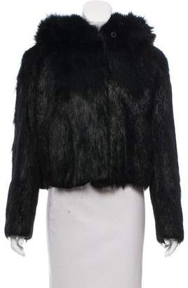 Givenchy Hooded Fur Jacket